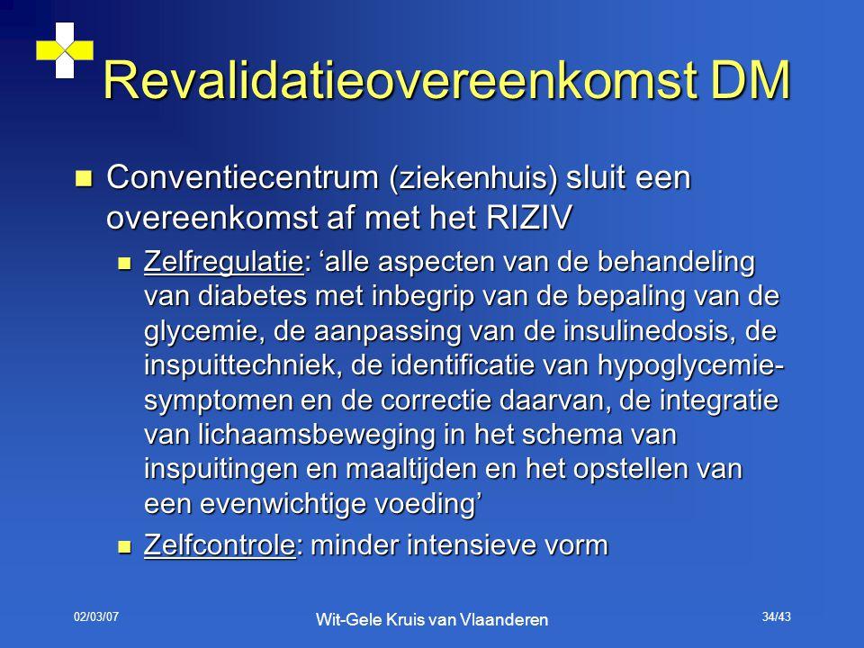 Revalidatieovereenkomst DM