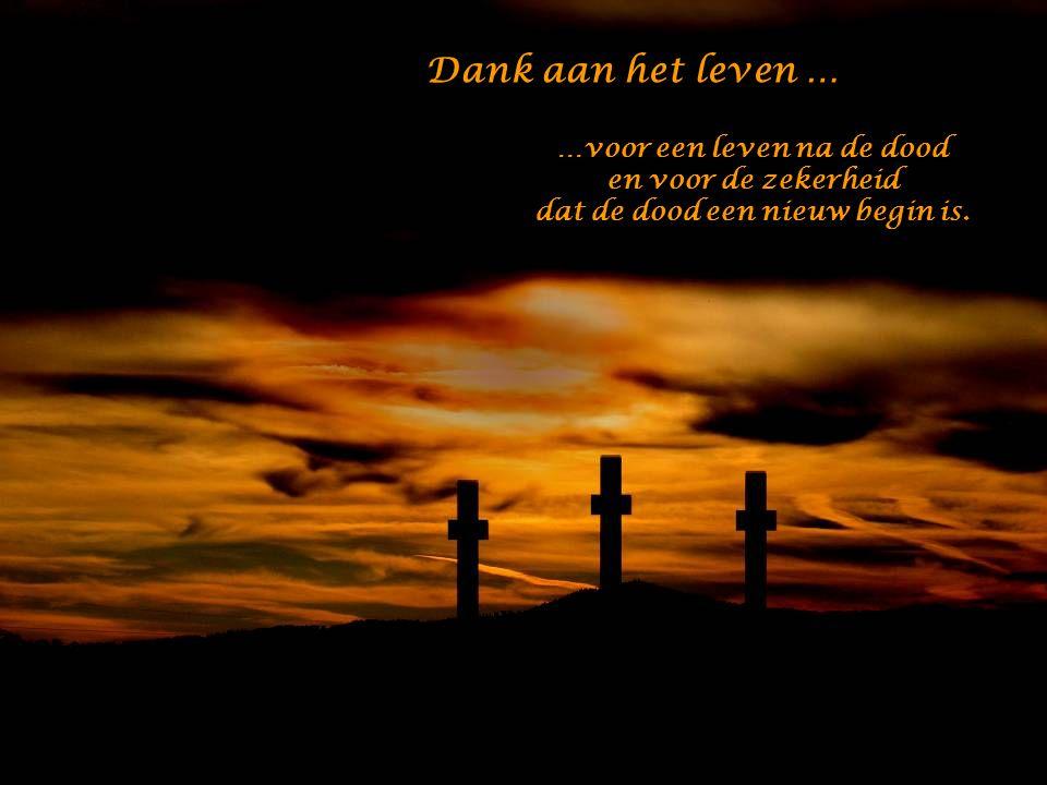 …voor een leven na de dood dat de dood een nieuw begin is.