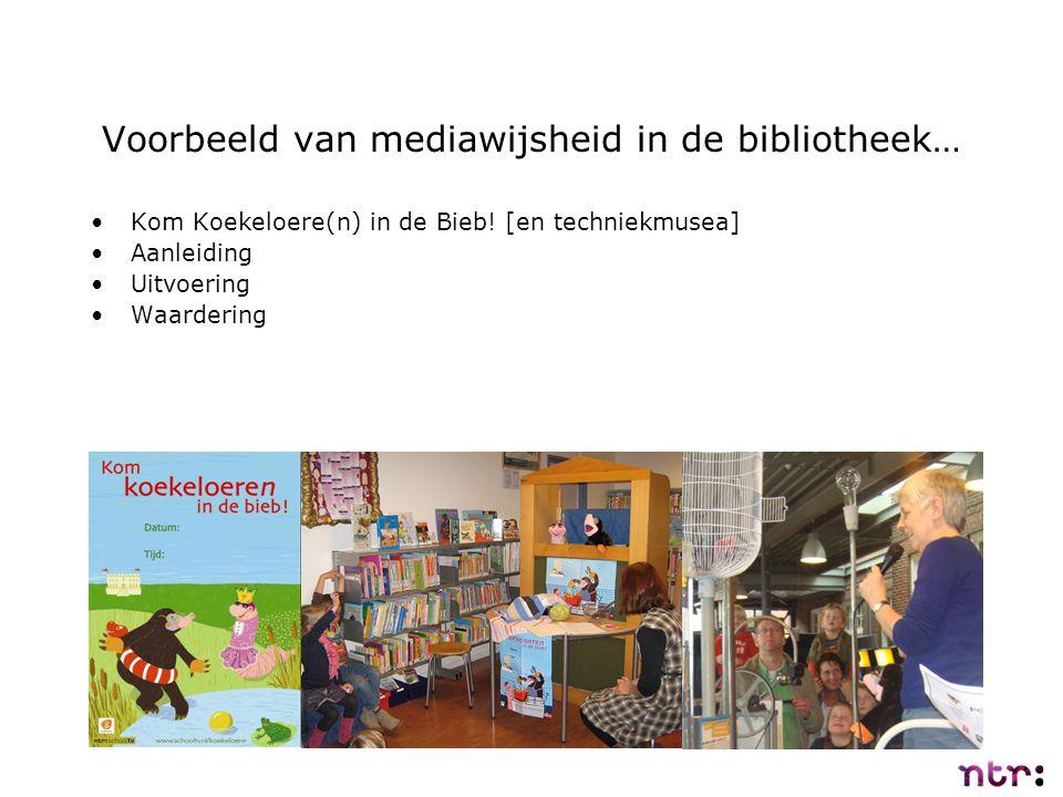 Voorbeeld van mediawijsheid in de bibliotheek…