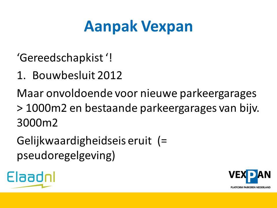 Aanpak Vexpan 'Gereedschapkist '! Bouwbesluit 2012
