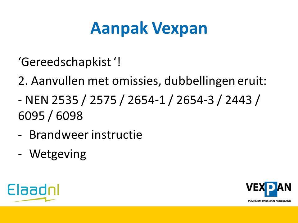 Aanpak Vexpan 'Gereedschapkist '!