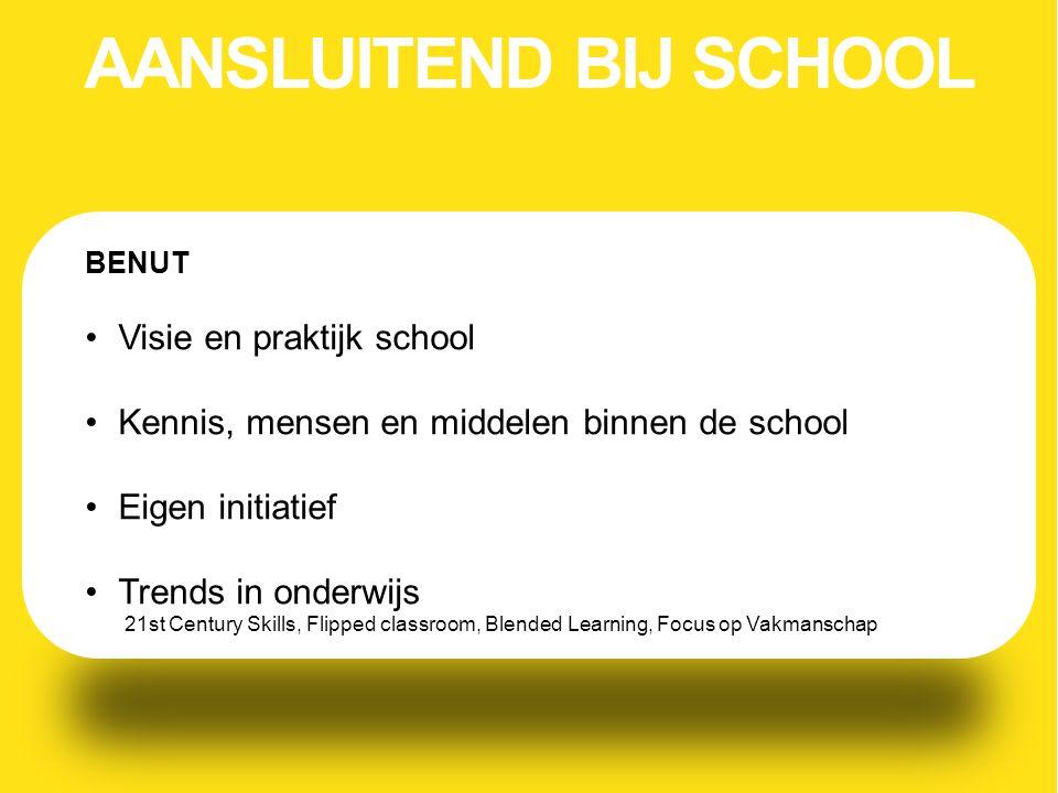 AANSLUITEND BIJ SCHOOL