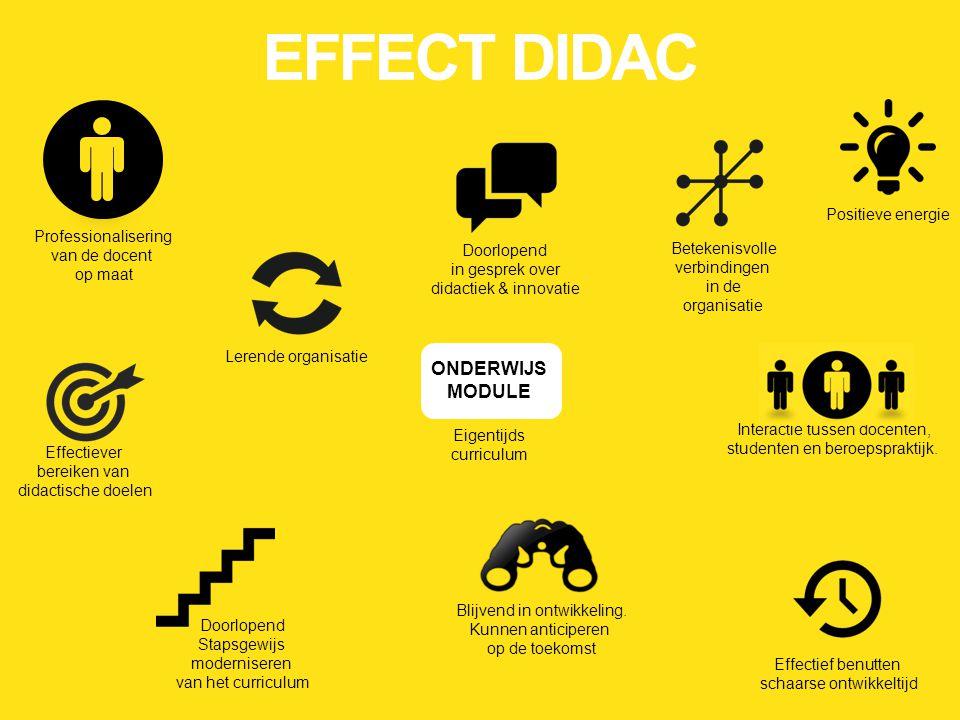 EFFECT DIDAC ONDERWIJS MODULE Positieve energie Professionalisering
