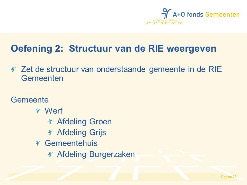 Oefening 2: Structuur van de RIE weergeven