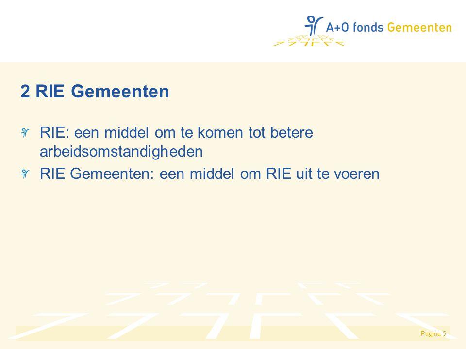 2 RIE Gemeenten RIE: een middel om te komen tot betere arbeidsomstandigheden.