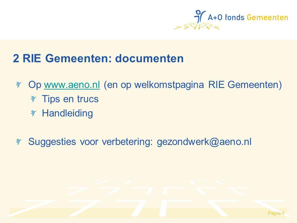 2 RIE Gemeenten: documenten