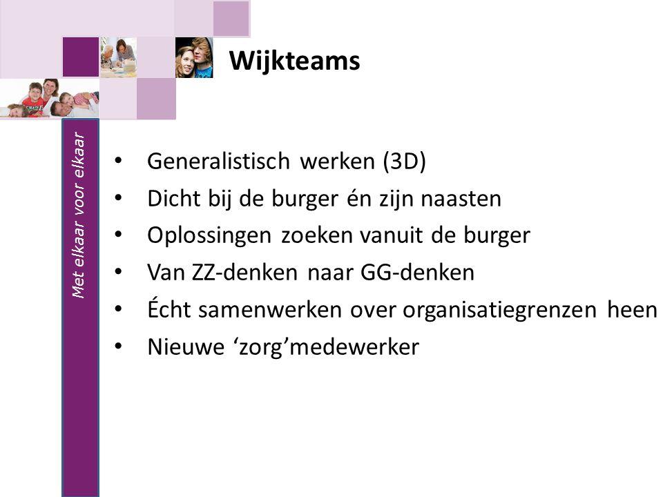 Wijkteams Generalistisch werken (3D)