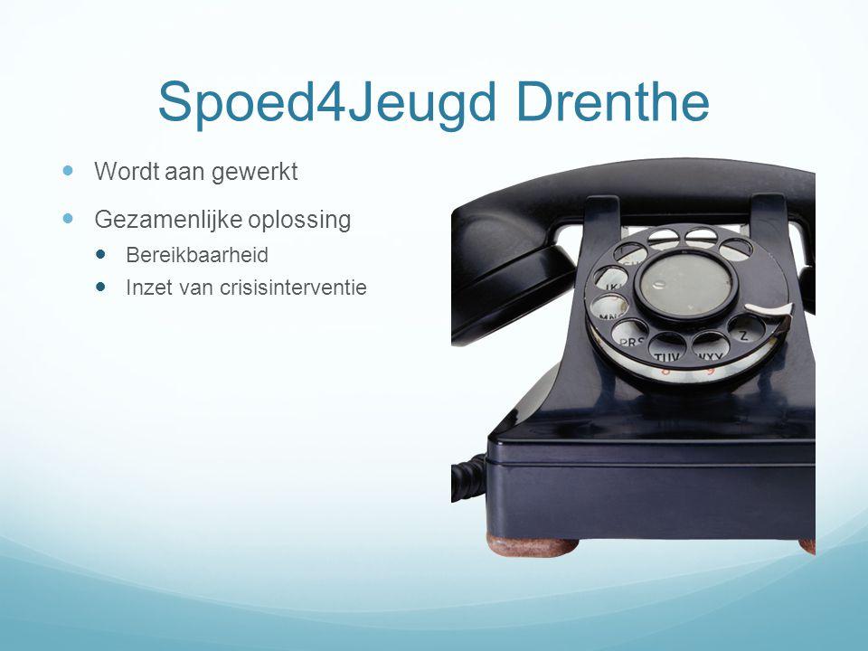 Spoed4Jeugd Drenthe Wordt aan gewerkt Gezamenlijke oplossing