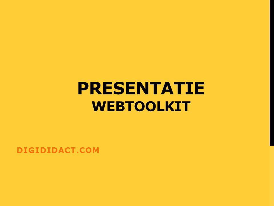 Presentatie webtoolkit