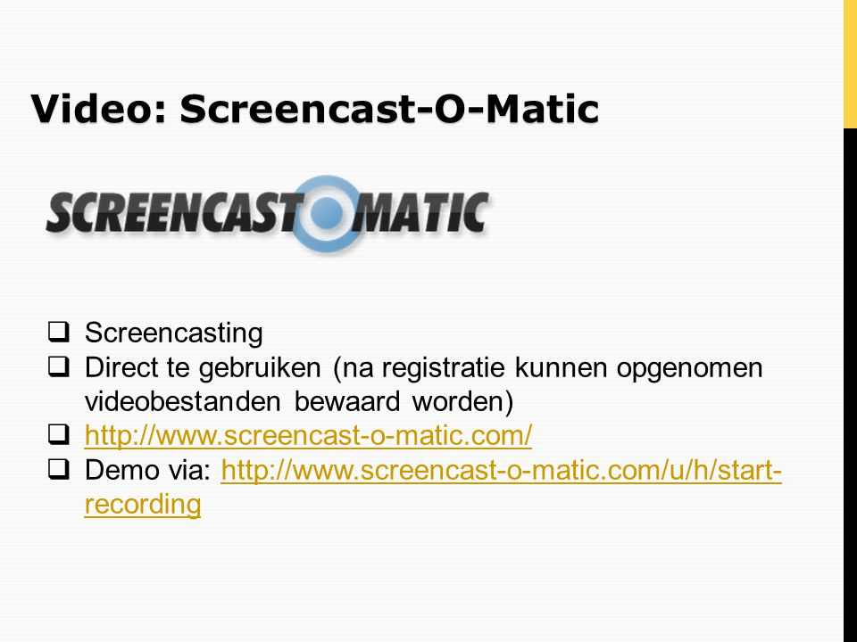 Video: Screencast-O-Matic