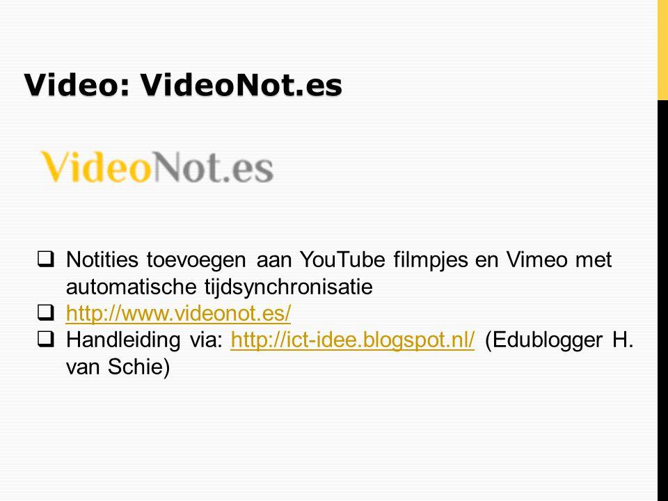 Video: VideoNot.es Notities toevoegen aan YouTube filmpjes en Vimeo met automatische tijdsynchronisatie.