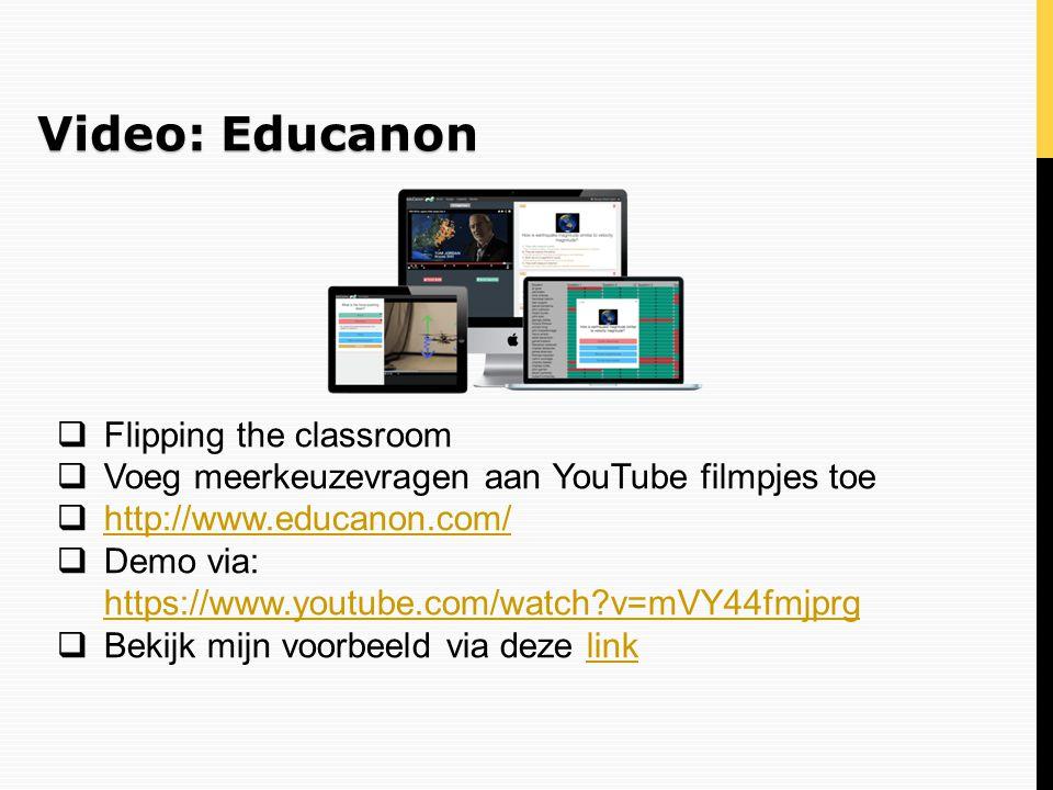Video: Educanon Flipping the classroom