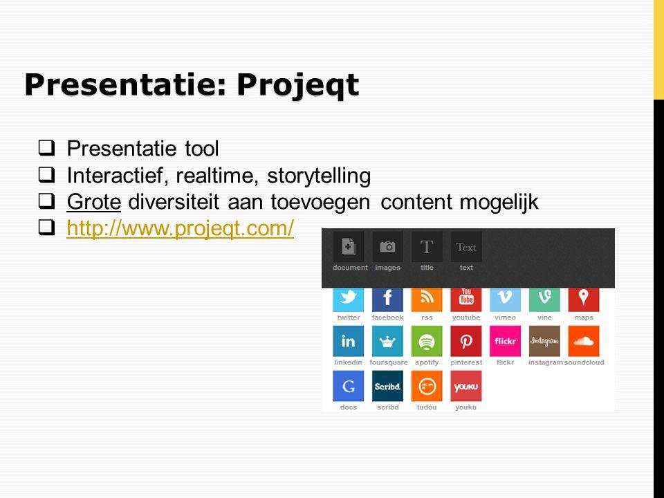 Presentatie: Projeqt Presentatie tool