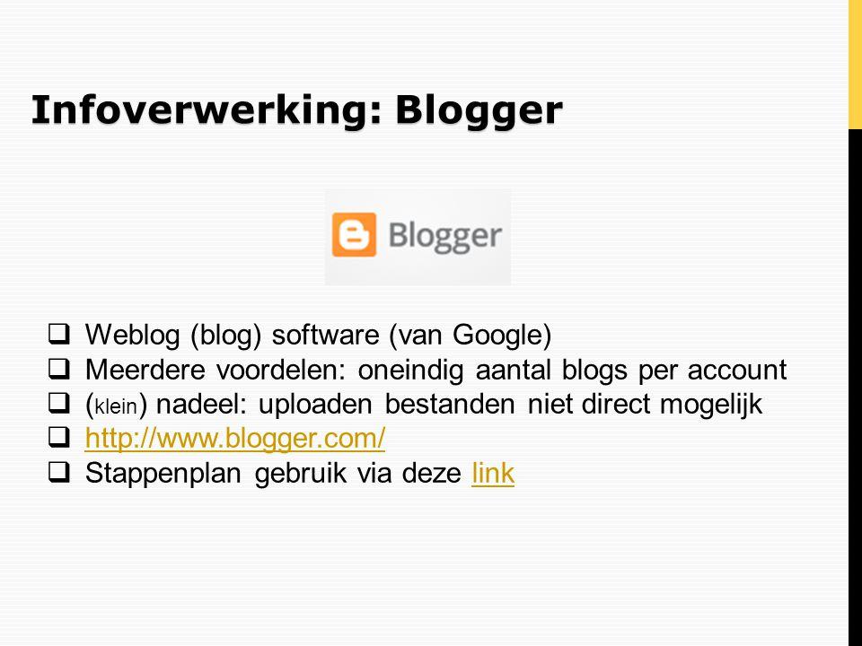 Infoverwerking: Blogger