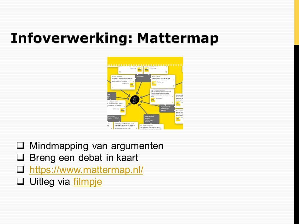Infoverwerking: Mattermap