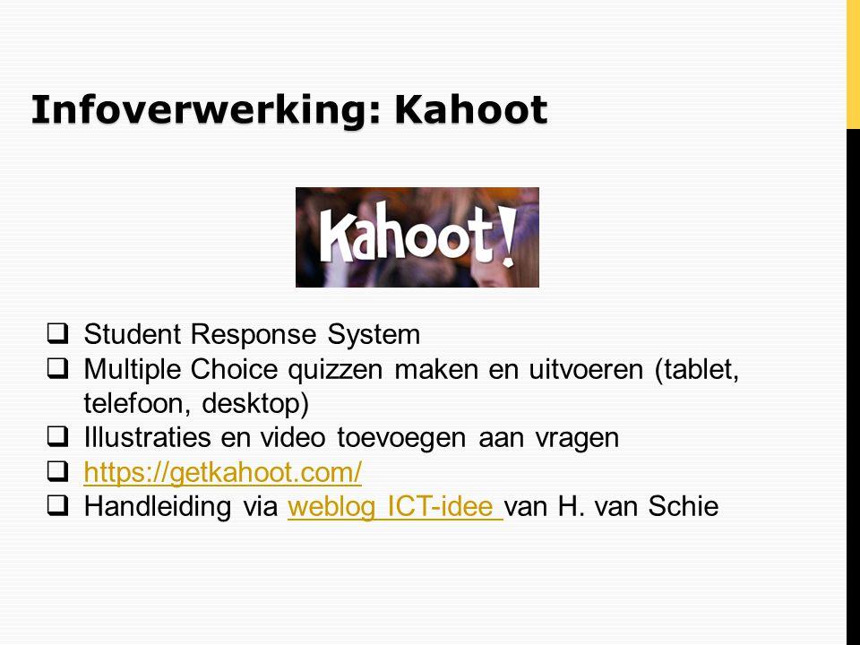 Infoverwerking: Kahoot