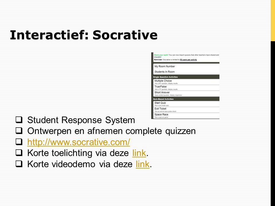 Interactief: Socrative