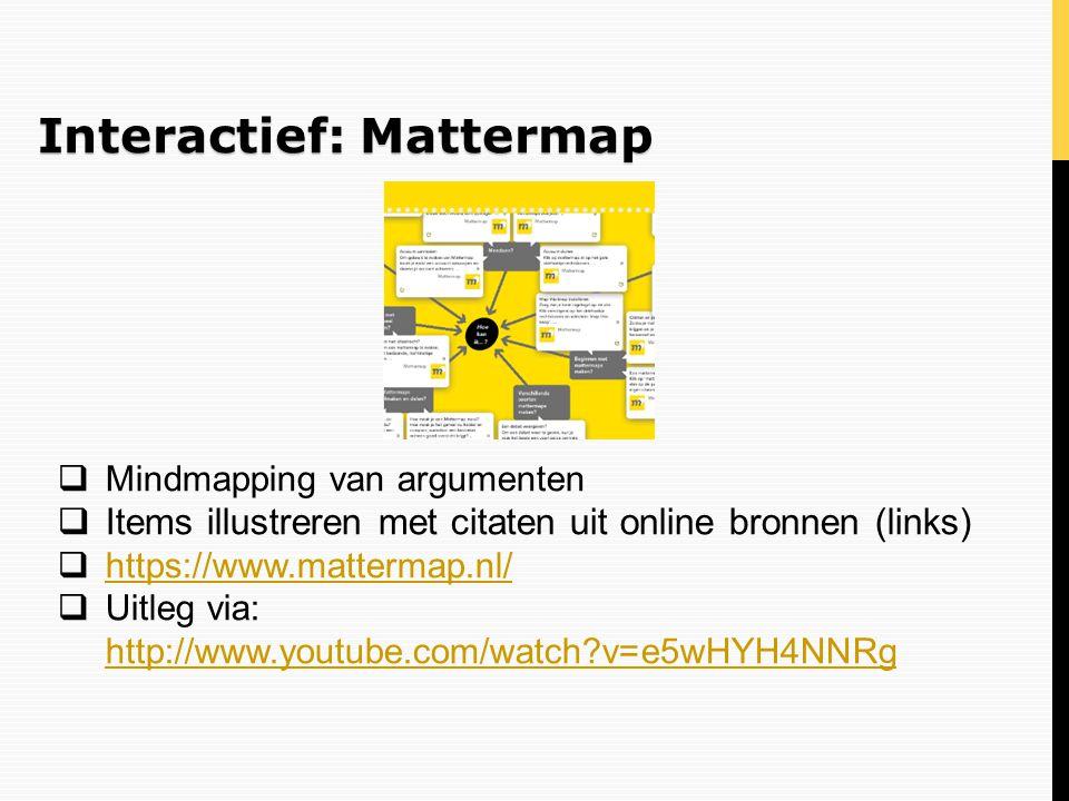 Interactief: Mattermap
