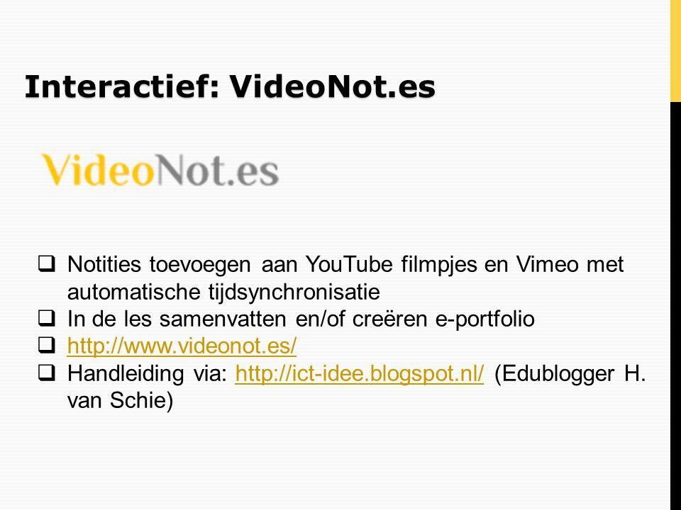 Interactief: VideoNot.es