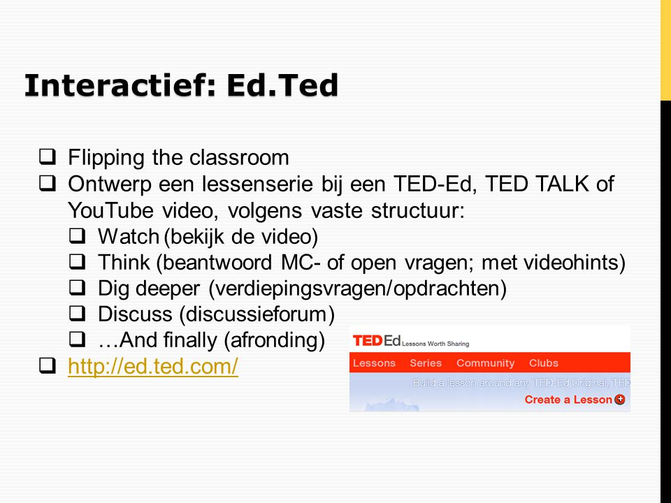 Interactief: Ed.Ted Flipping the classroom