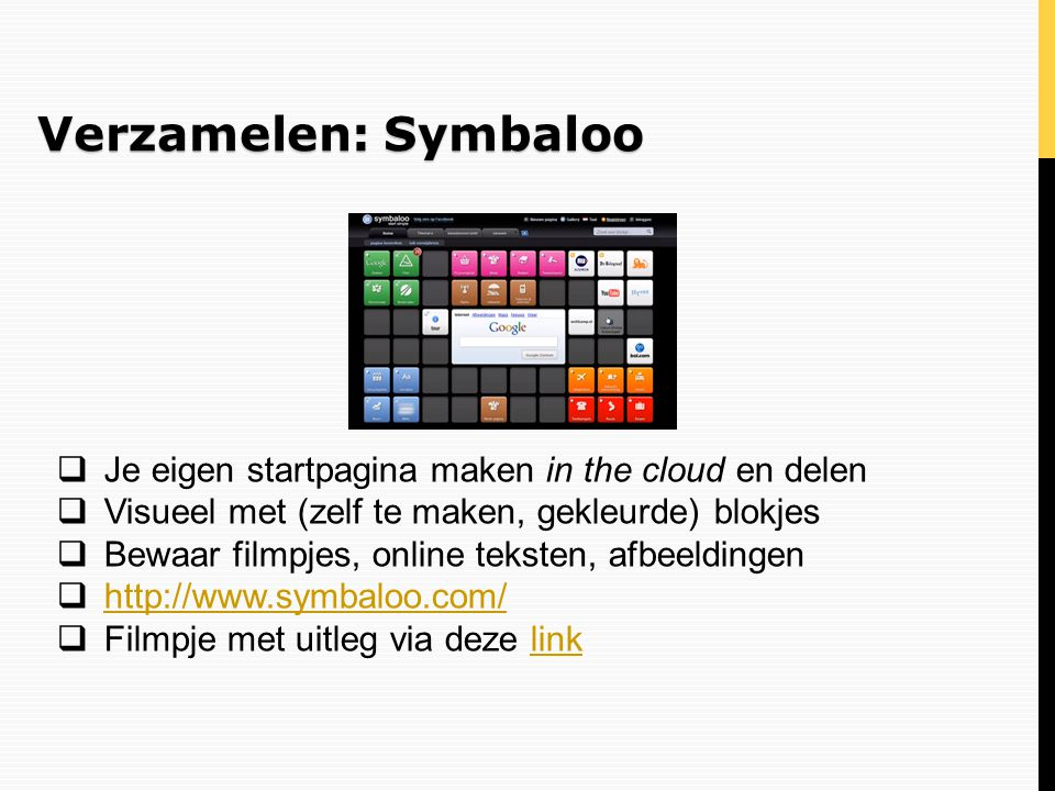 Verzamelen: Symbaloo Je eigen startpagina maken in the cloud en delen