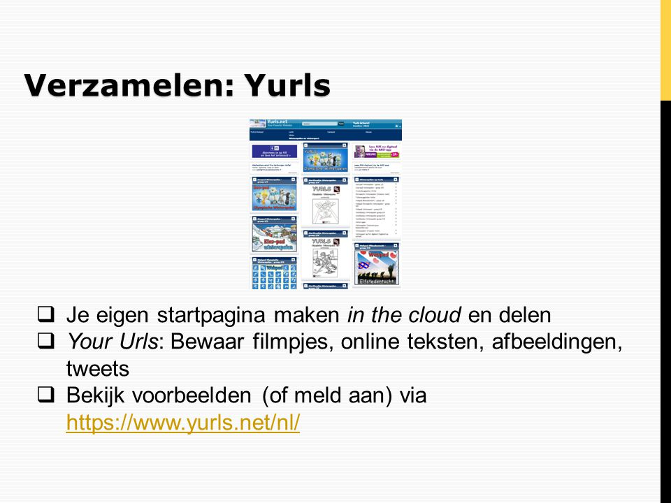Verzamelen: Yurls Je eigen startpagina maken in the cloud en delen