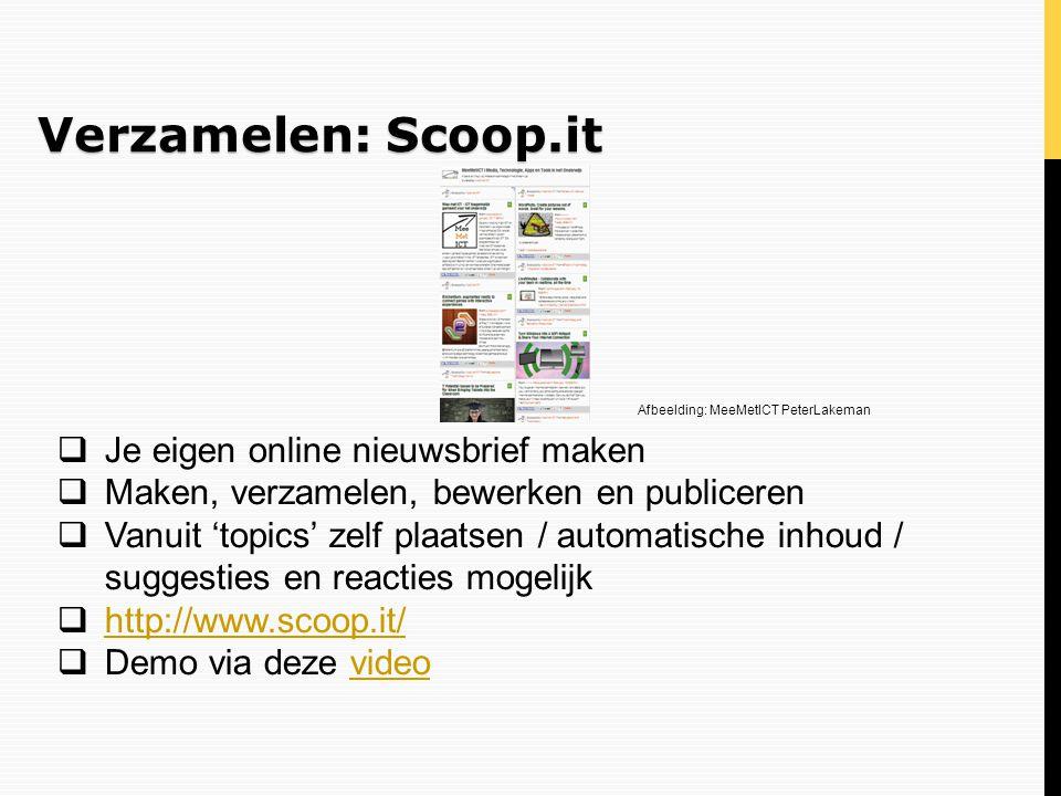 Verzamelen: Scoop.it Je eigen online nieuwsbrief maken