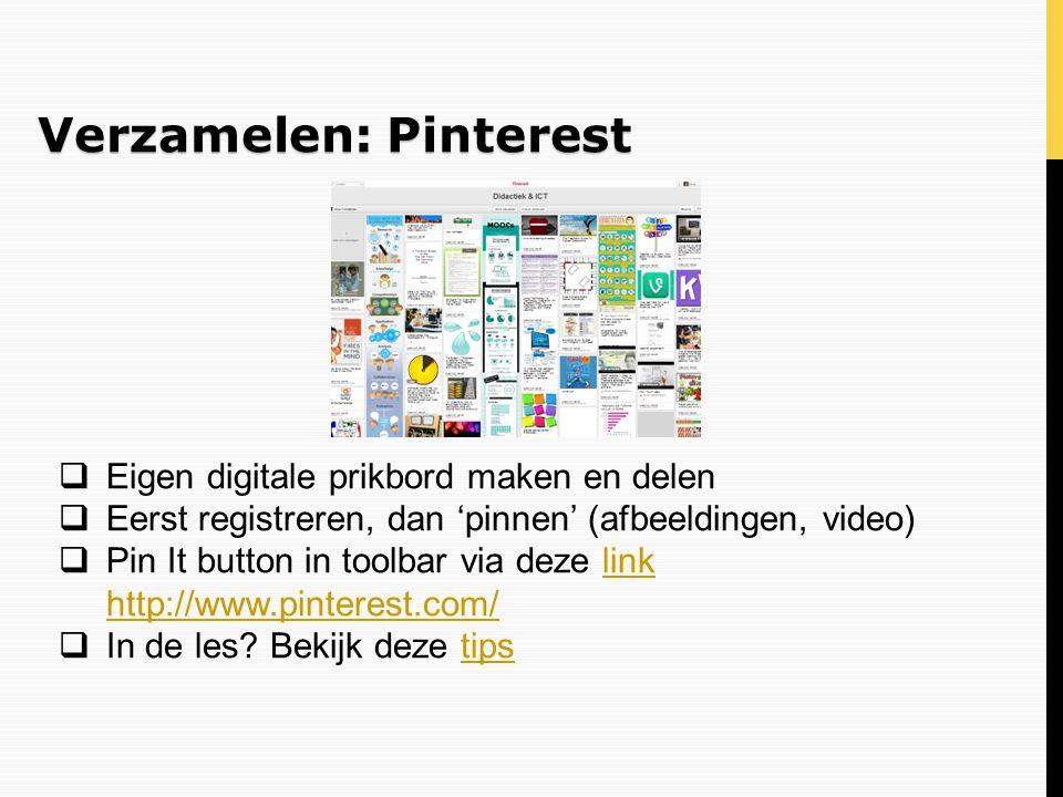 Verzamelen: Pinterest