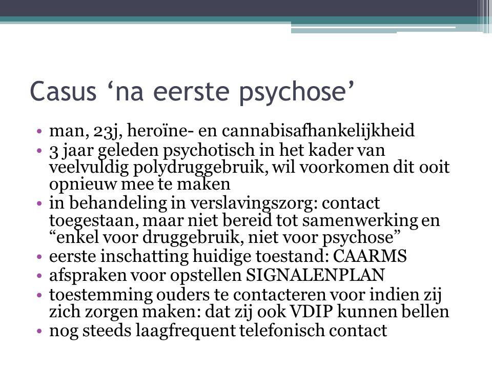 Casus 'na eerste psychose'