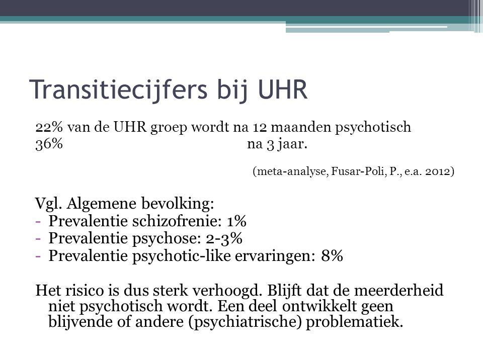 Transitiecijfers bij UHR