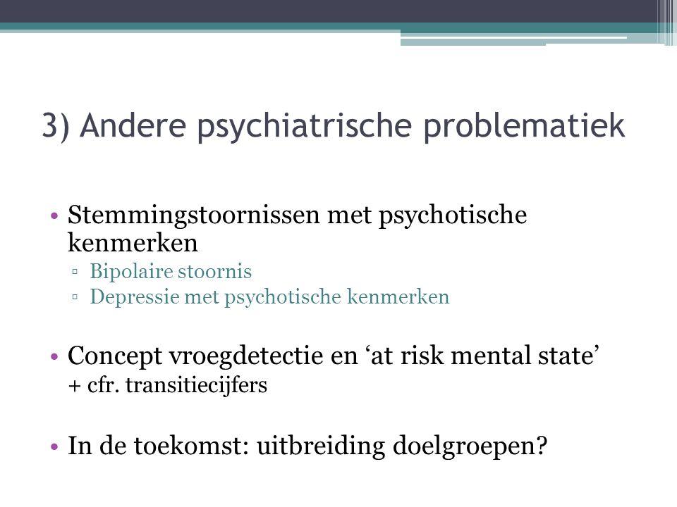 3) Andere psychiatrische problematiek