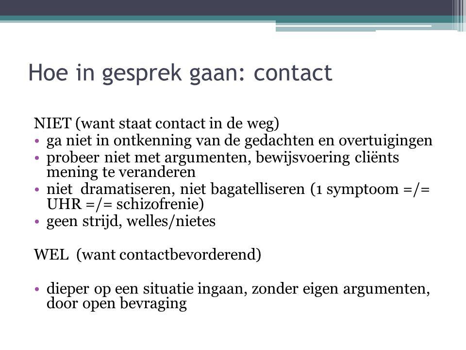 Hoe in gesprek gaan: contact
