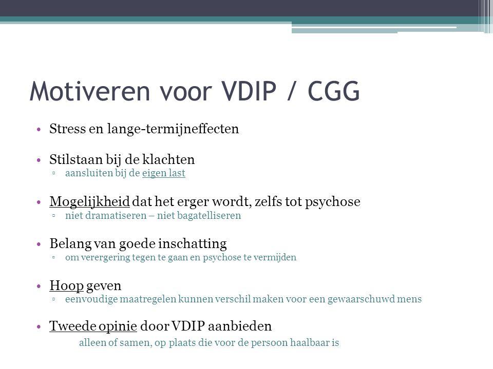 Motiveren voor VDIP / CGG