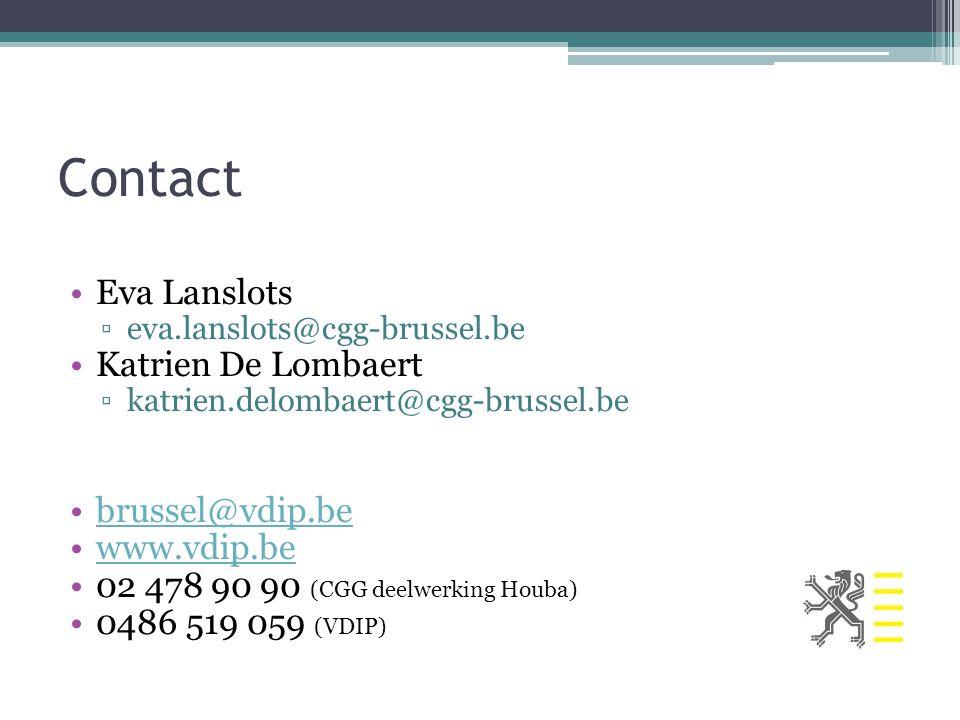 Contact Eva Lanslots Katrien De Lombaert brussel@vdip.be www.vdip.be