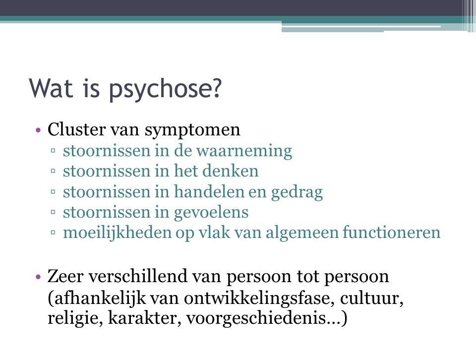 Wat is psychose Cluster van symptomen