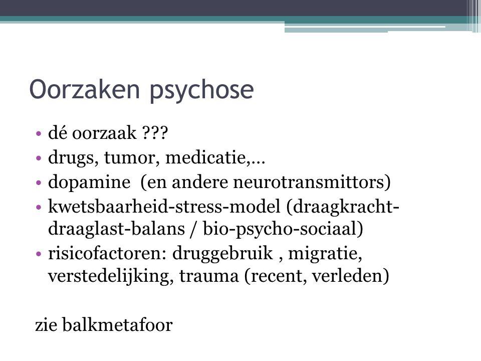 Oorzaken psychose dé oorzaak drugs, tumor, medicatie,…