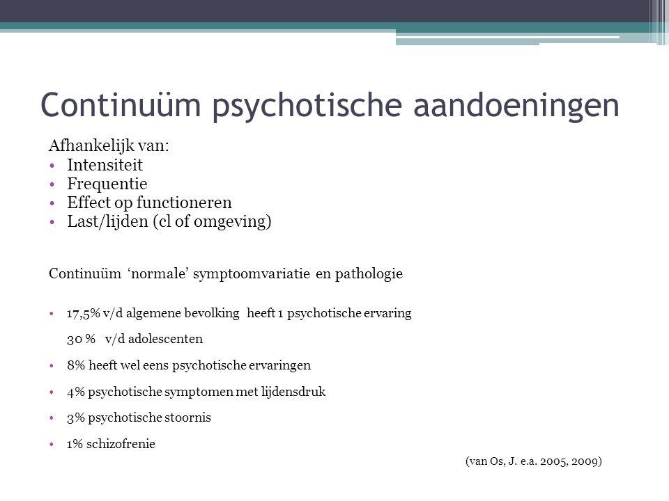 Continuüm psychotische aandoeningen