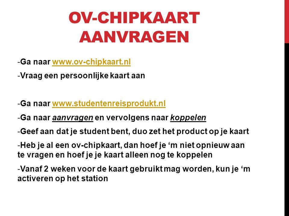 Ov-chipkaart aanvragen