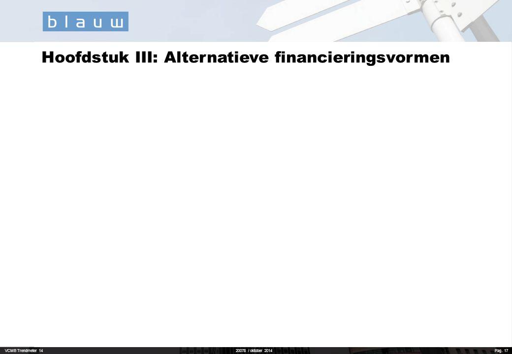 Hoofdstuk III: Alternatieve financieringsvormen
