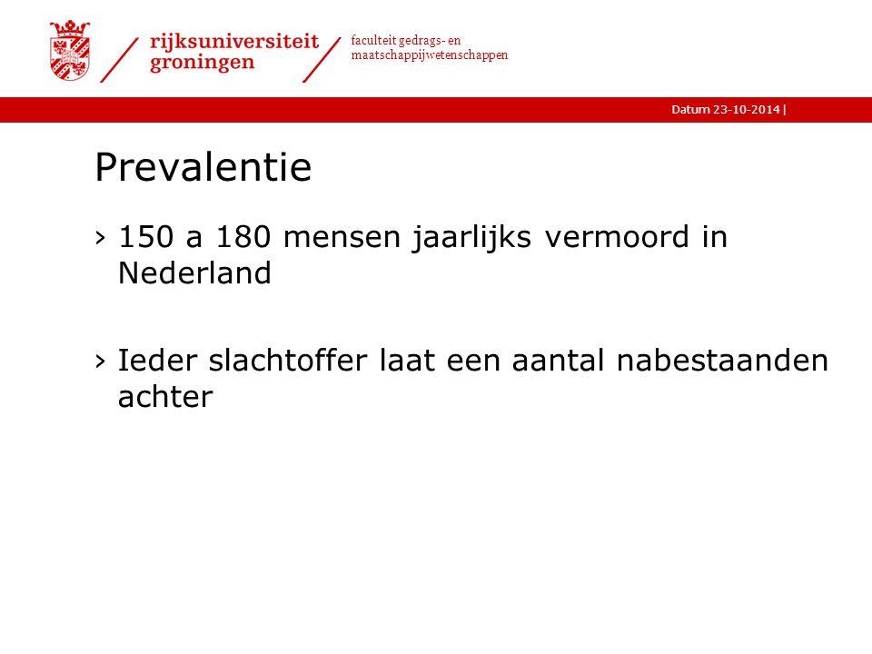 Prevalentie 150 a 180 mensen jaarlijks vermoord in Nederland