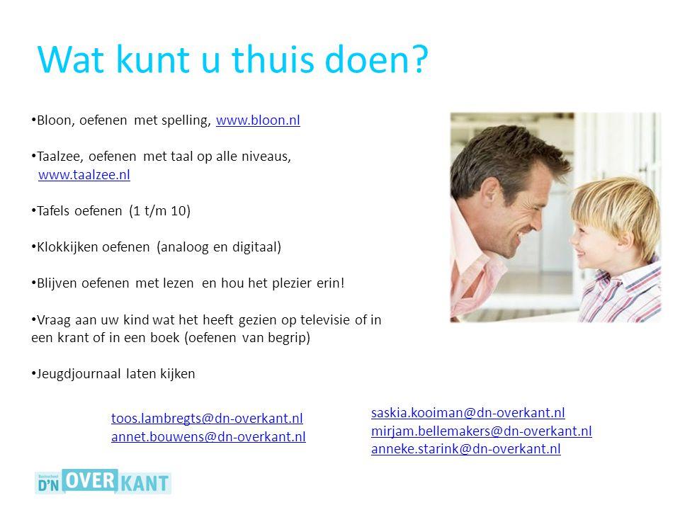 Wat kunt u thuis doen Bloon, oefenen met spelling, www.bloon.nl