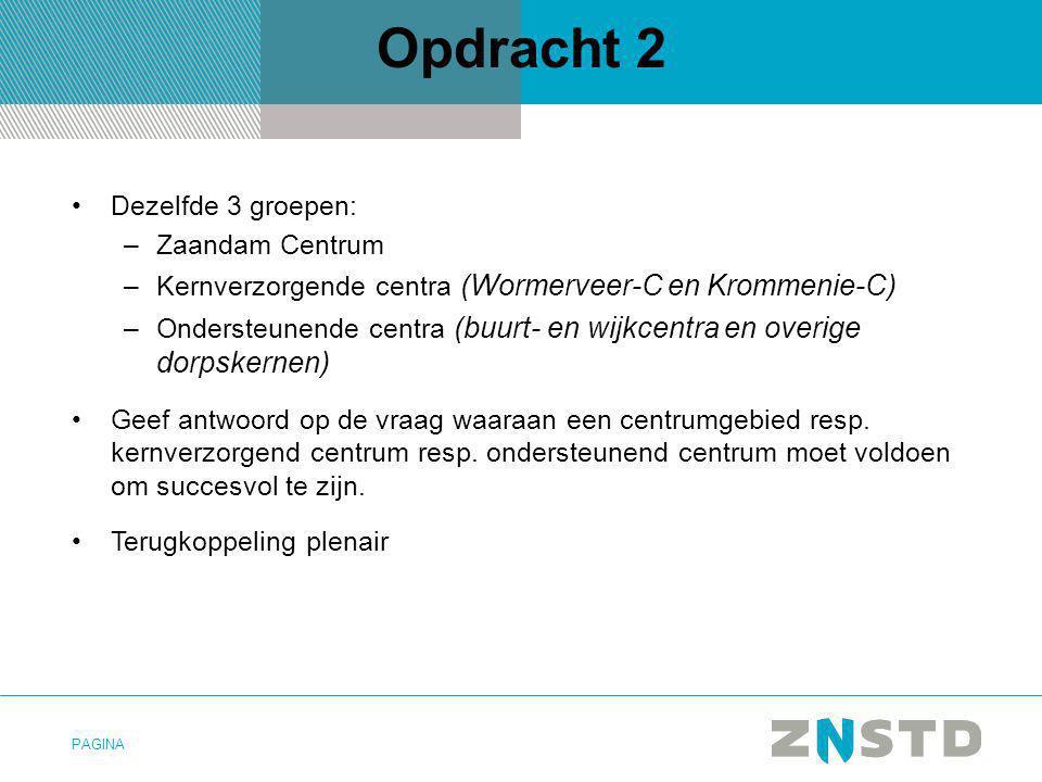 Opdracht 2 Dezelfde 3 groepen: Zaandam Centrum