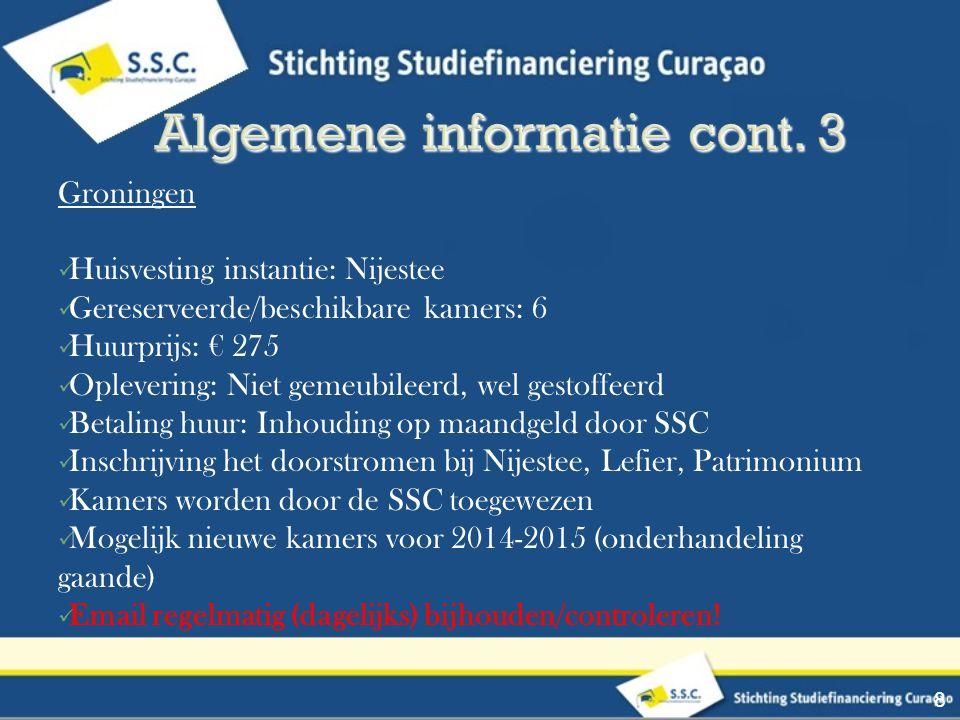 Algemene informatie cont. 3
