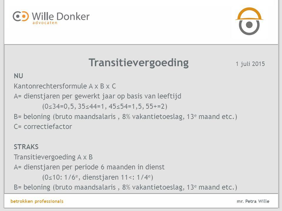 Transitievergoeding NU Kantonrechtersformule A x B x C