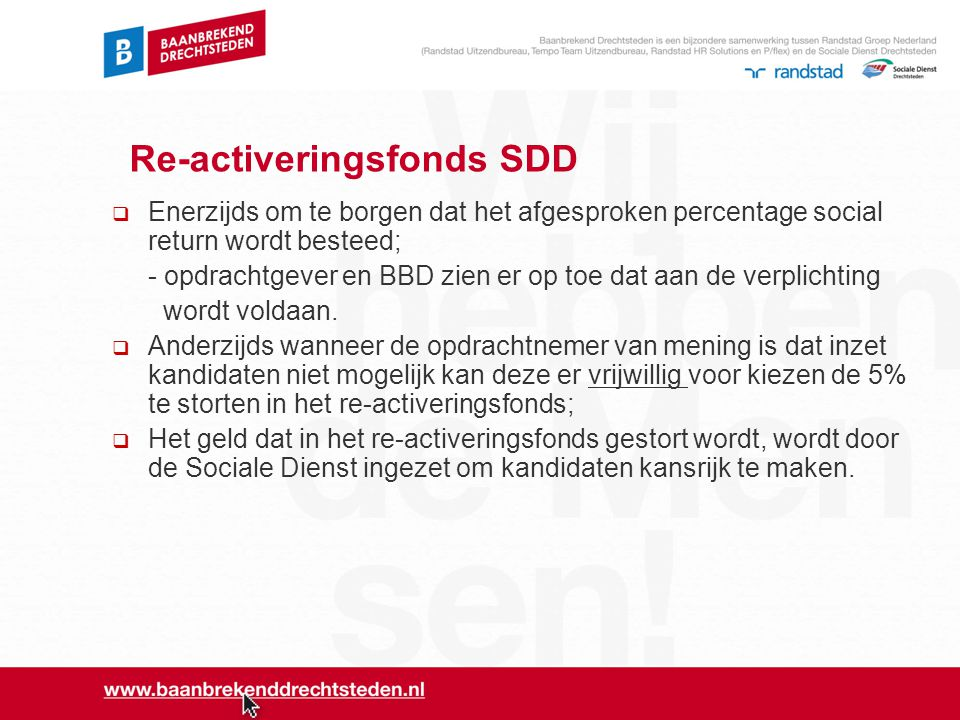 Re-activeringsfonds SDD