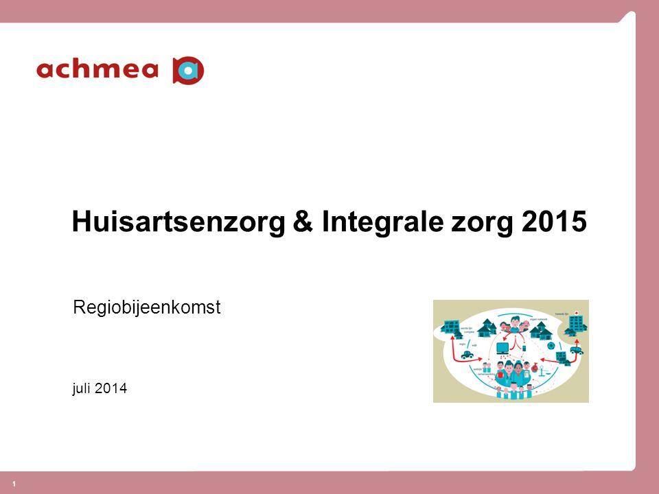 Huisartsenzorg & Integrale zorg 2015
