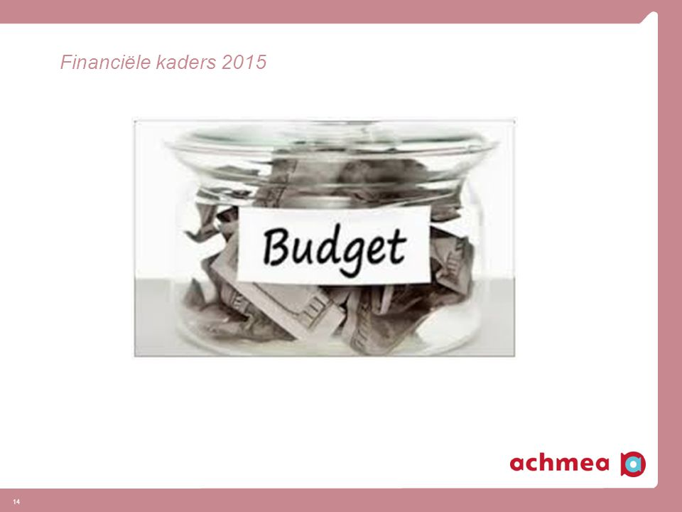 Financiële kaders 2015