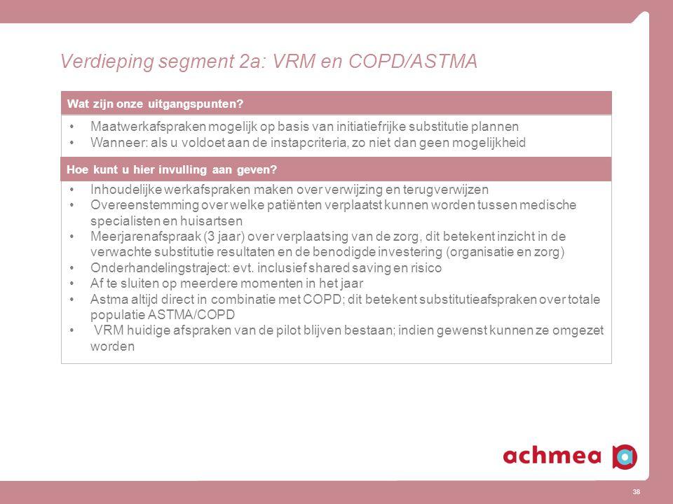 Verdieping segment 2a: VRM en COPD/ASTMA