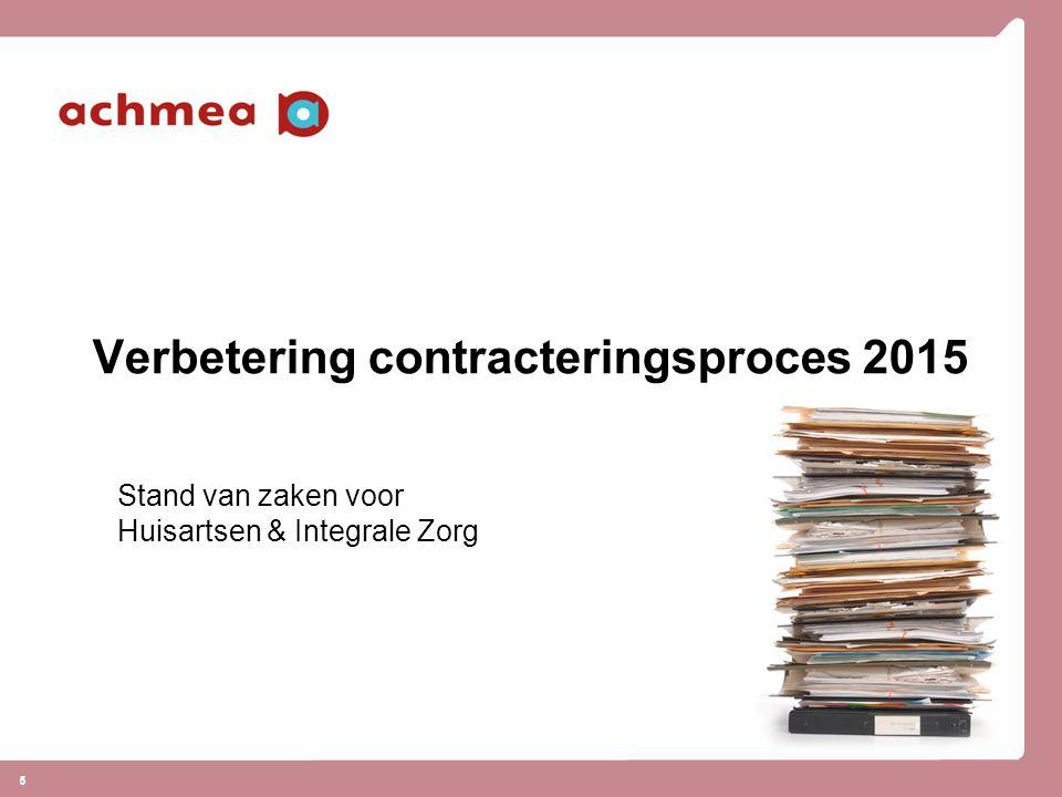Verbetering contracteringsproces 2015