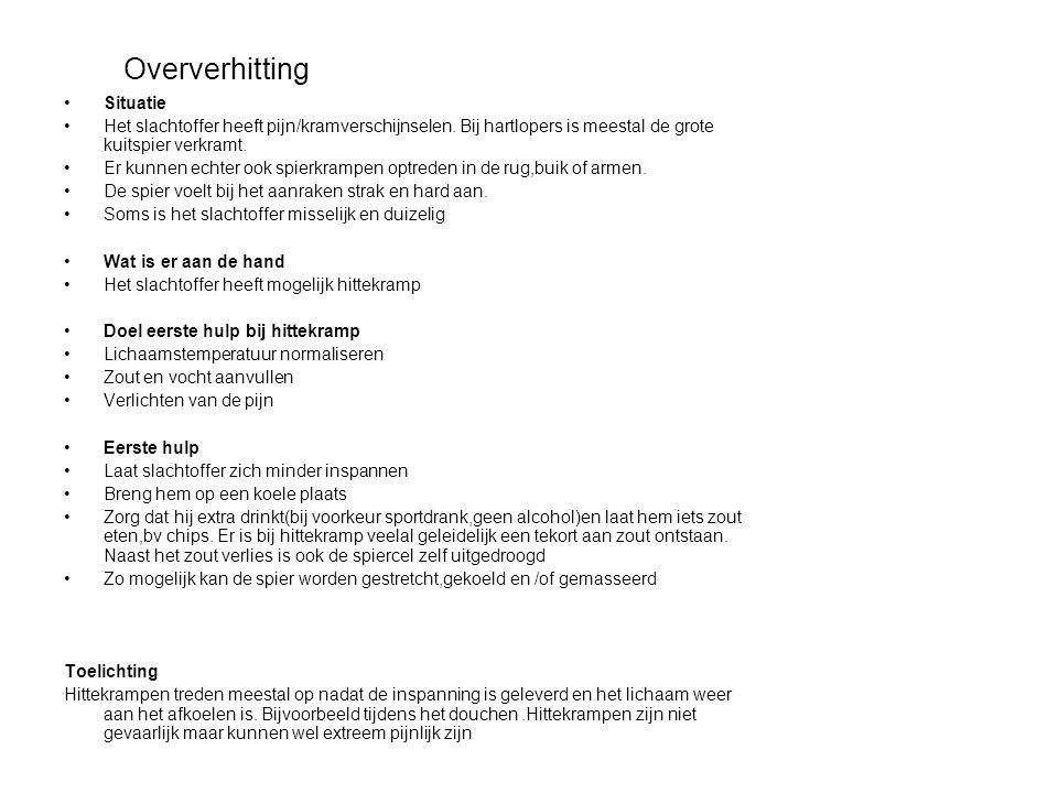 Oververhitting Situatie